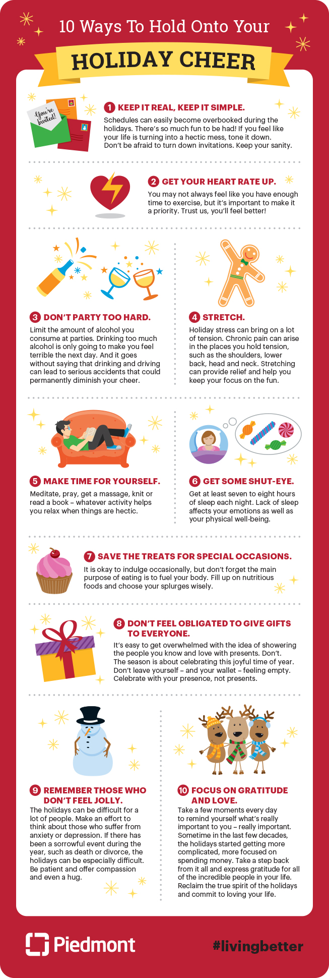 10 ways to hold onto your holiday cheer