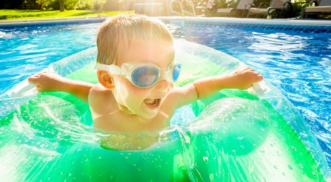 Summer safety in the pool