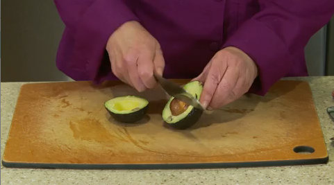 Cut an avocado