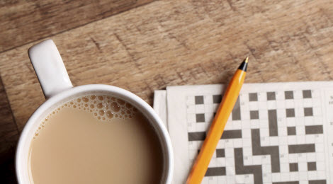 Crossword puzzles and coffee