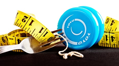 A yo-yo and measuring tape.