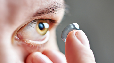 How to safely wear contacts.