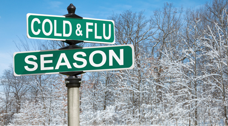 A sign for cold & flu season.
