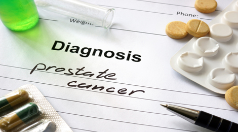 Prostate cancer diagnosis on paper.