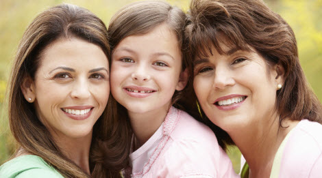Mother, daughter, granddaughter