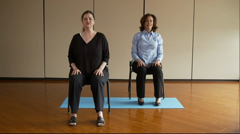 chair yoga destress at your desk at work  piedmont