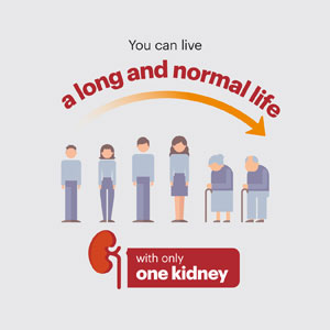 You can live a long and normal life with only one kidney