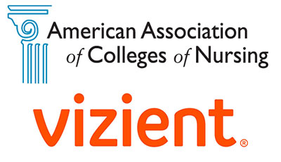 Logos for American Association of Colleges of Nursing and Vizient