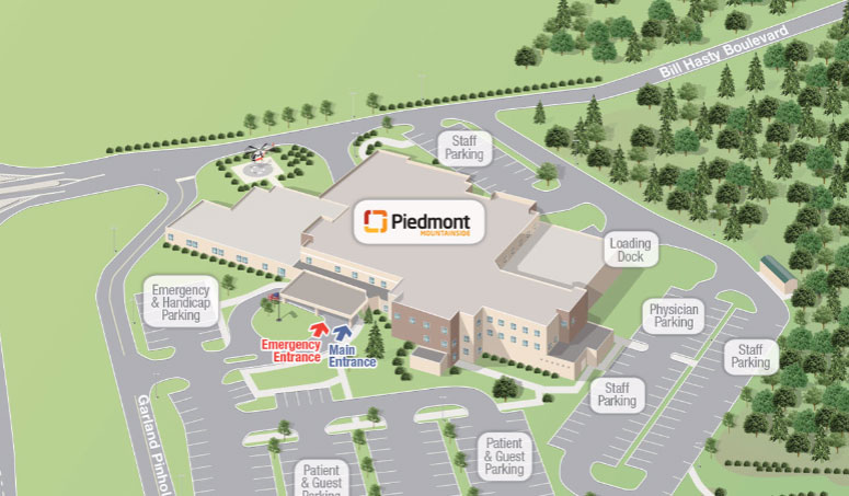 Piedmont Mountainside campus map